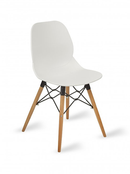 Shoreditch Chair/Timber Base - White