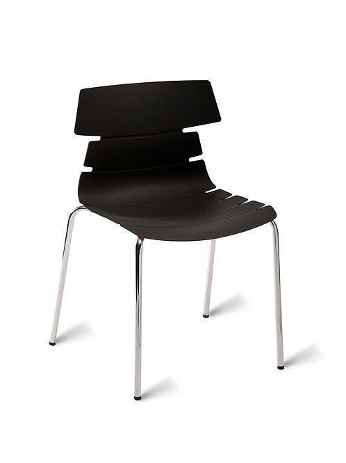 Hoxton Chair/Chrome Base - Black