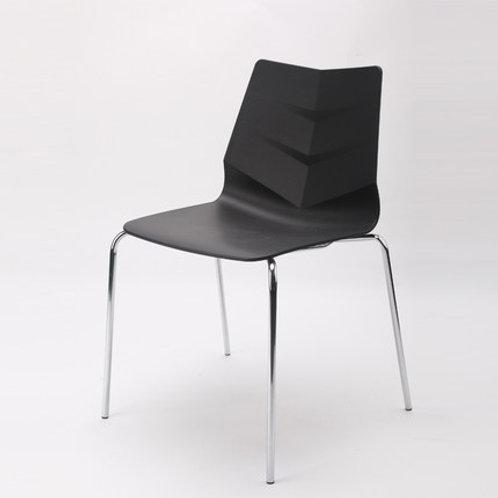Camden Chair/Chrome Base - Black