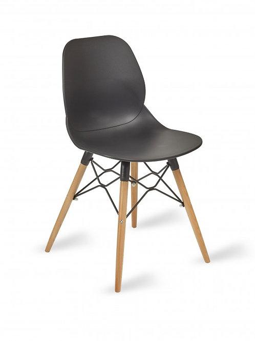 Shoreditch Chair/Timber Base - Black