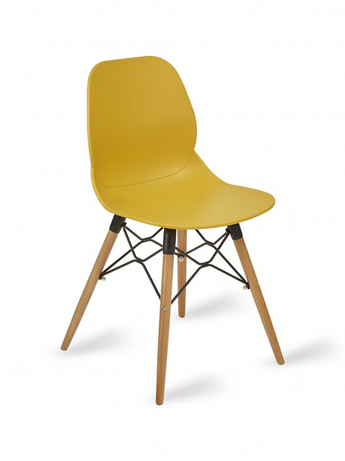 copy of Shoreditch Chair/Timber Base - Mustard