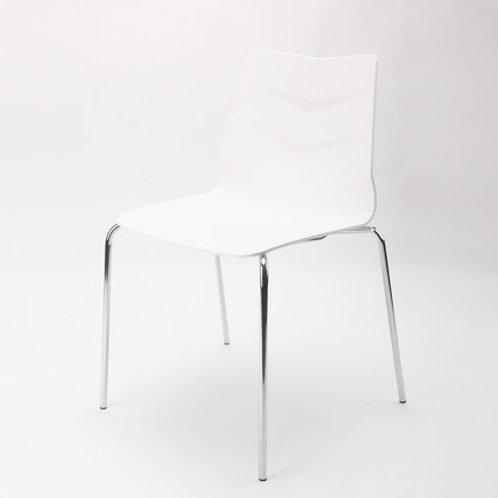Camden Chair/Chrome Base - White