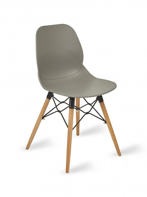 Shoreditch Chair/Timber Base - Grey