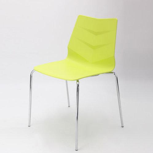 Camden Chair/Chrome Base - Lime Green