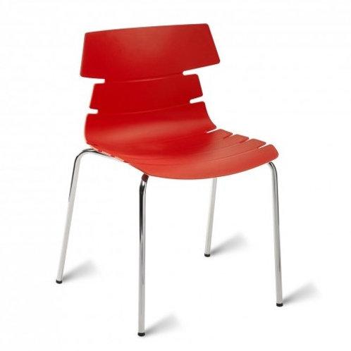 Hoxton Chair/Chrome Base - Red