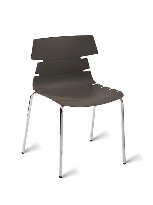 Hoxton Chair/Chrome Base - Grey