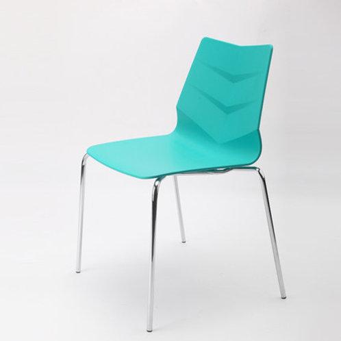 Camden Chair/Chrome Base - Turquoise