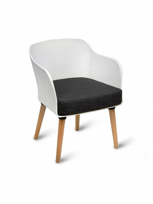 Poppy Tub Arm Chair/Timber Base (cushion included)