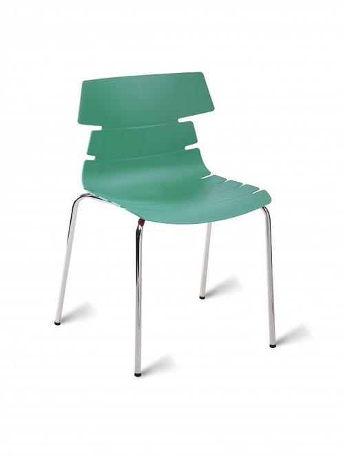 Hoxton Chair/Chrome Base - Turquoise