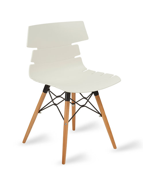 Hoxton Chair/Timber Base -White