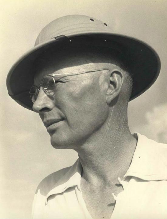 Rusty in Panama Jack Hat