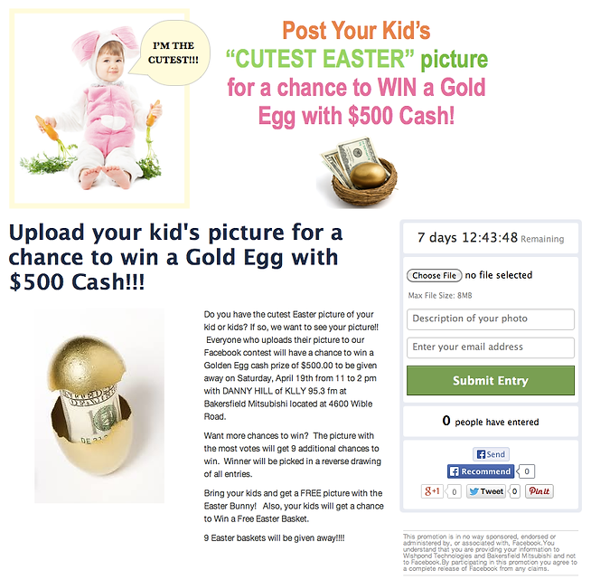 Cutest Easter Kid Screenshot of Contest.