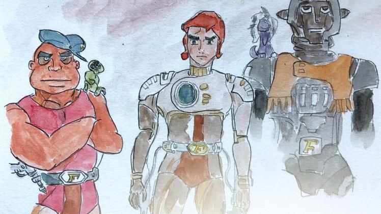 """""""A New Adventure of Captain Future"""" CAPITOLO IX: Capitan Futuro, picchia duro anche per no"""