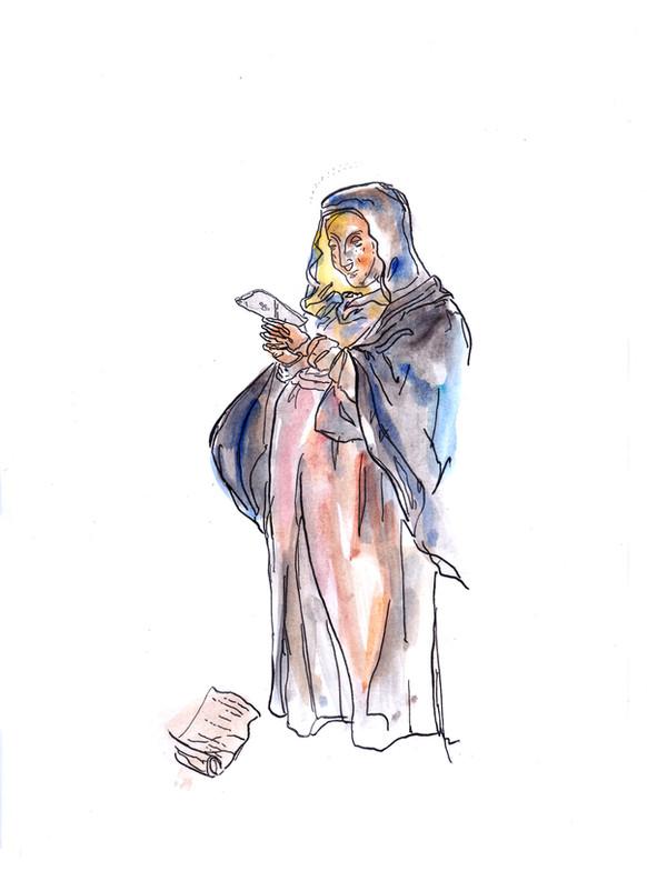 Madonna col cellulare [4]