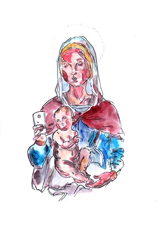Madonna col cellulare [3]