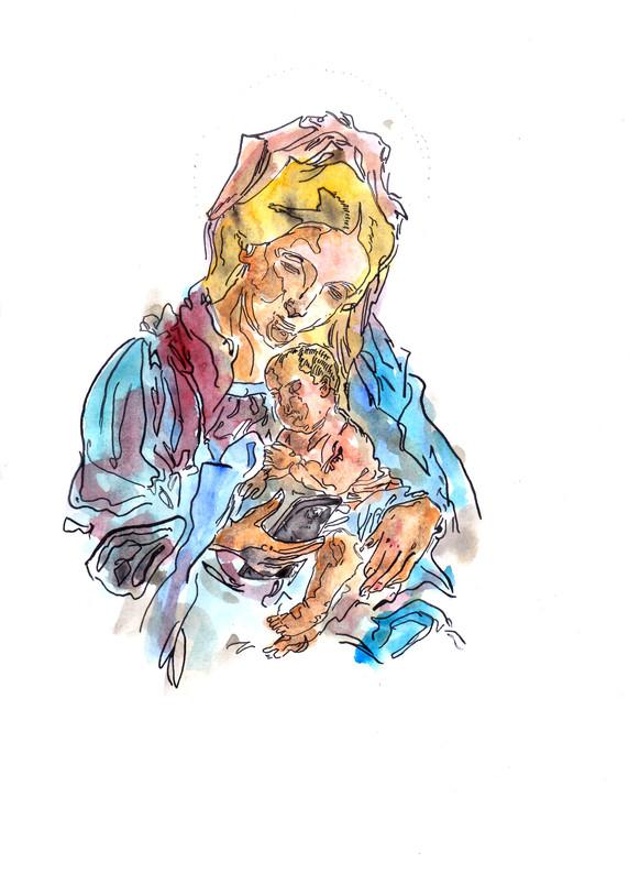 Madonna col cellulare [1]