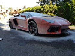 Lamborghini Aventador soapy