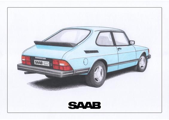 Saab 900 Platanium Blue