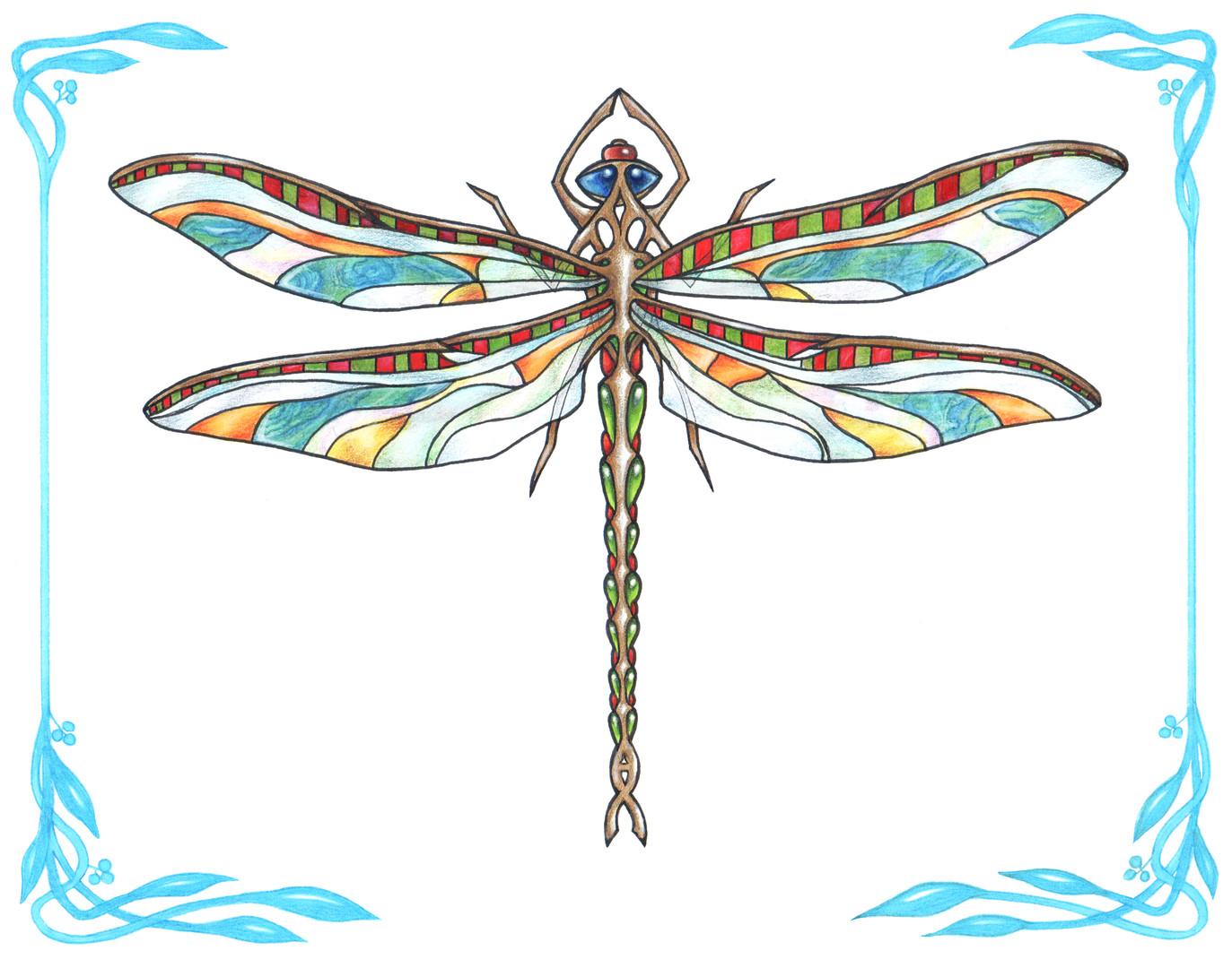 Nouveau Dragonfly illustration