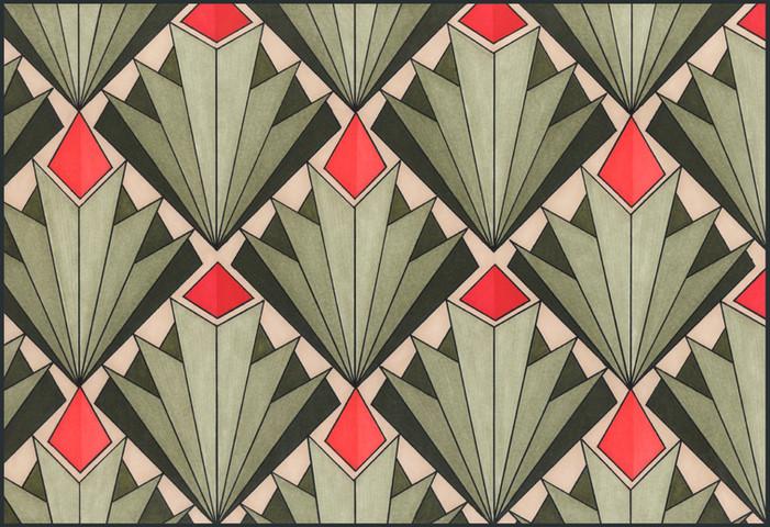 Art Deco # 1 'Desert Flower' illustration