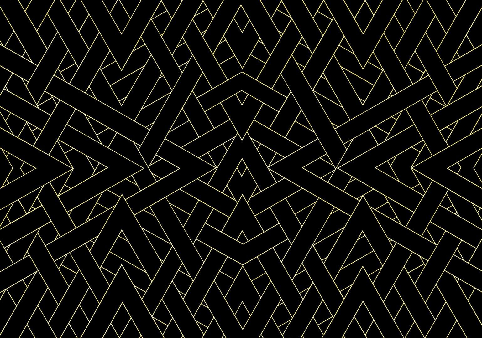Art Deco # 8 'Golden Shards' illustration