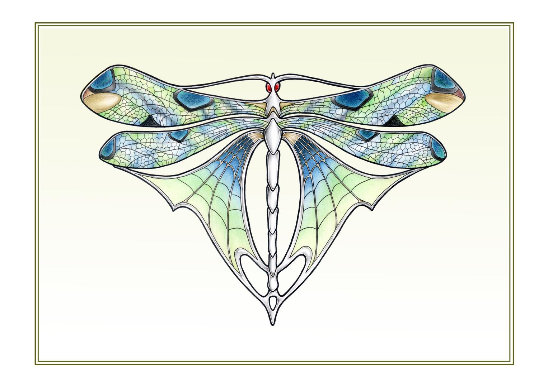 Art Deco # 6 'Butterfly' illustration