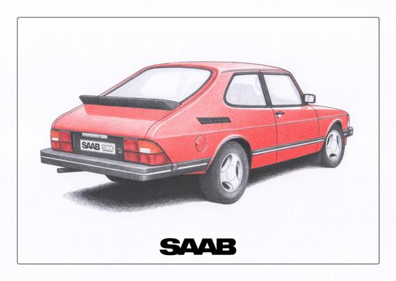 Saab 900 Cherry Red
