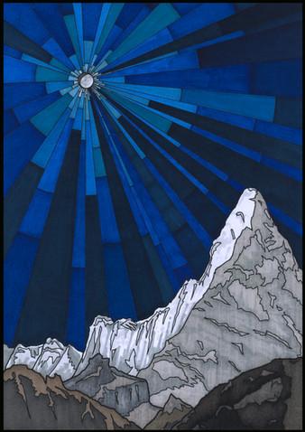 Stained Glass VI 'Matterhorn' illustration
