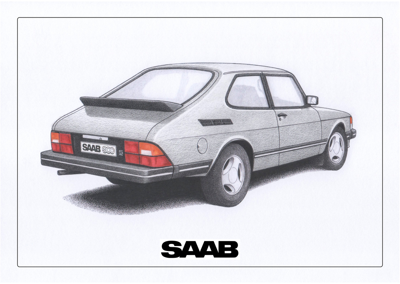 Saab 900 Silver