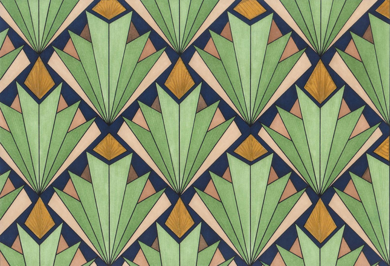 Art Deco # 3 'Succulents' illustration