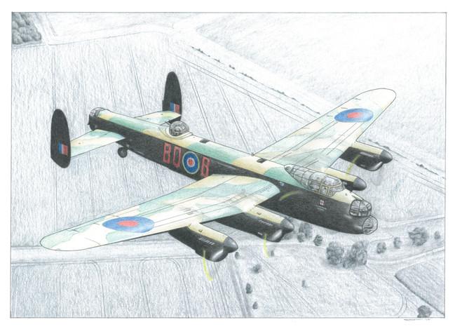 Lancaster 'Afternoon Flight' illustration