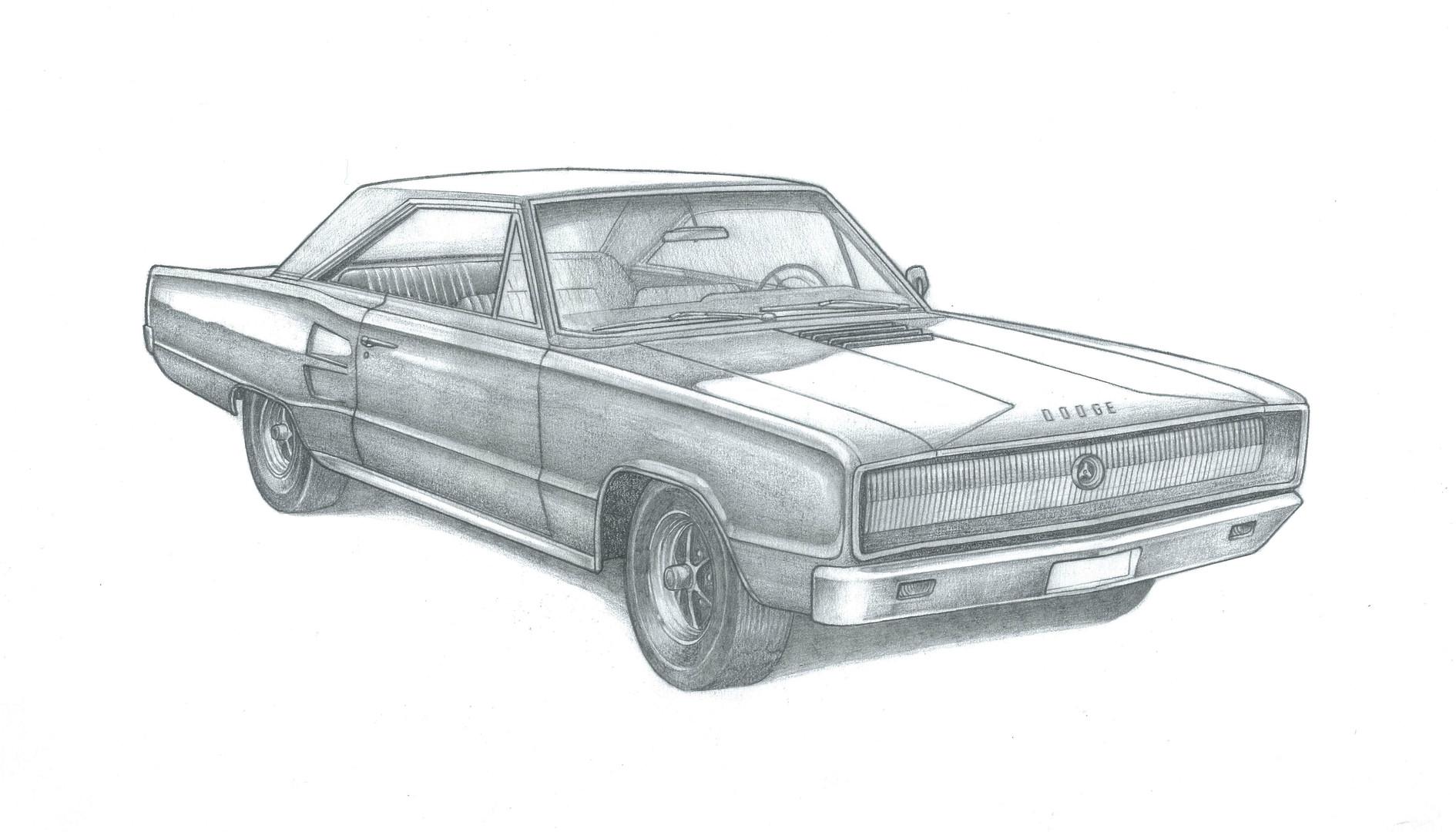 Dodge Coronet RT illustration