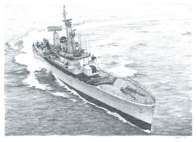 HMS Bacchante illustration