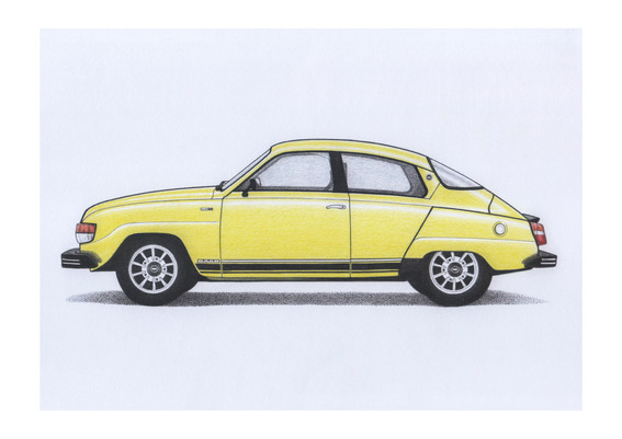 SAAB 96 Brilliant Yellow