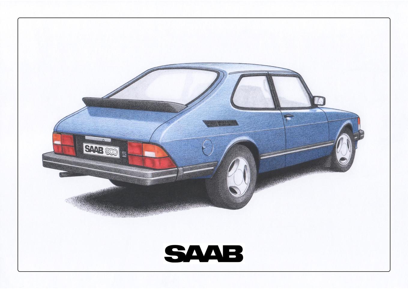 Saab 900 Blue