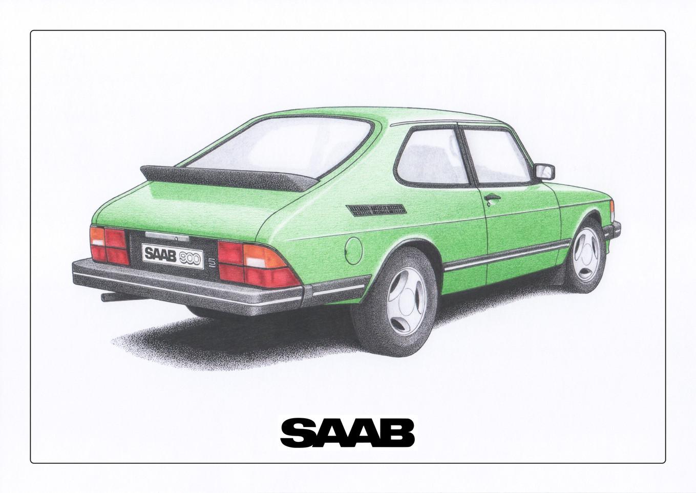 Saab 900 Acacia Green