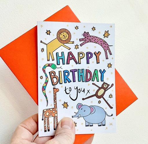 Children's Animal Birthday Card
