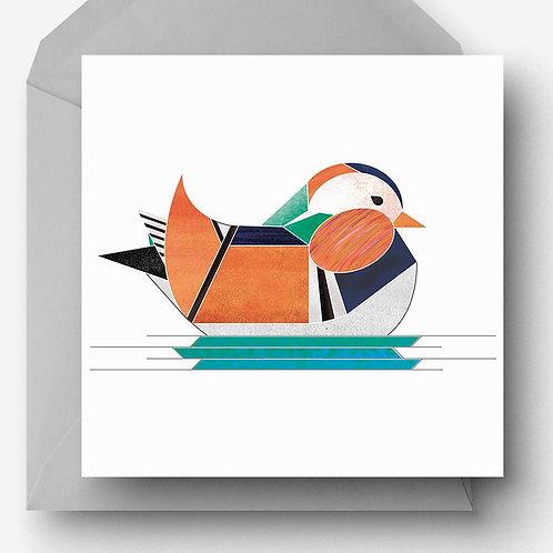 Mandarin Duck Greetings Card