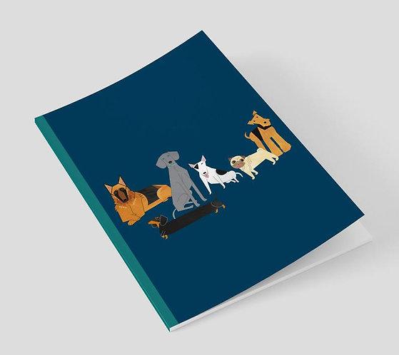 Doggie Friends A5 Notebook