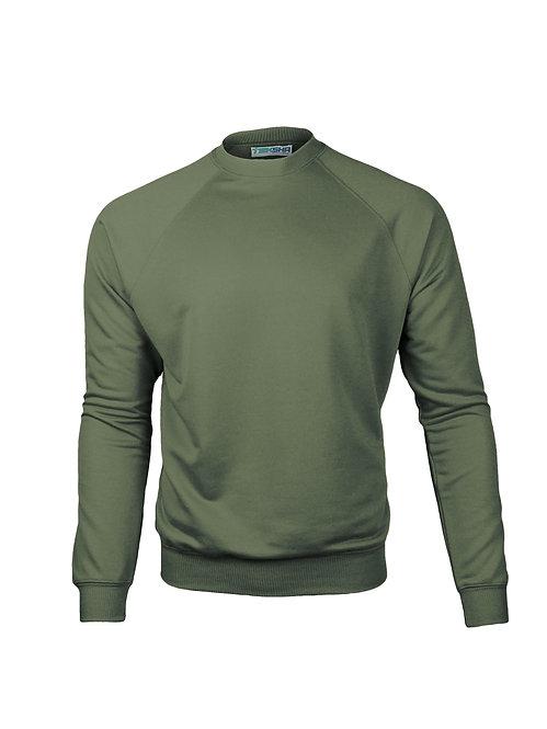 Plain Unisex Sweater in Khaki