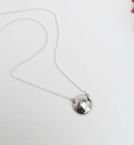 Silver Dome Necklace