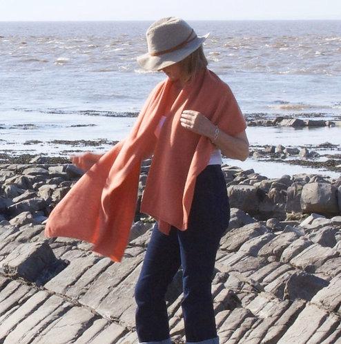 Oversized Cashmere Wrap in Sugared Almond