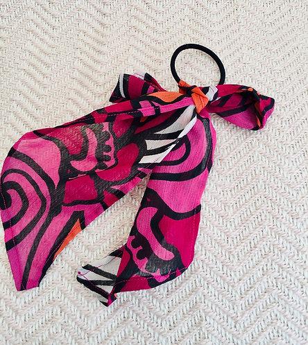 70's Print Hair Tie