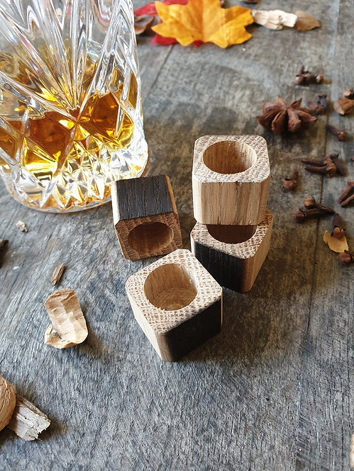 Set of Oak Whiskey Ice Blocks