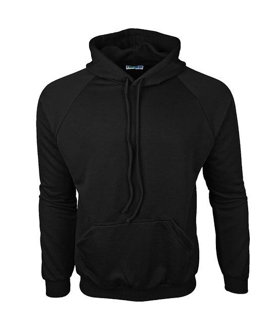 Plain Unisex Hoodie in Black