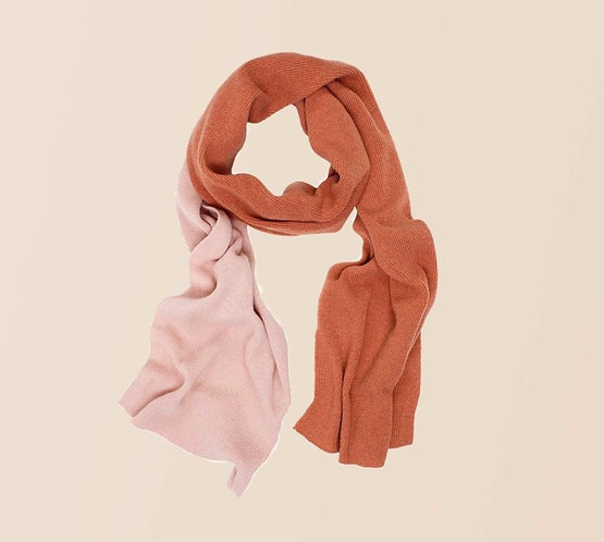 Long Two-Tone Cashmere Scarf