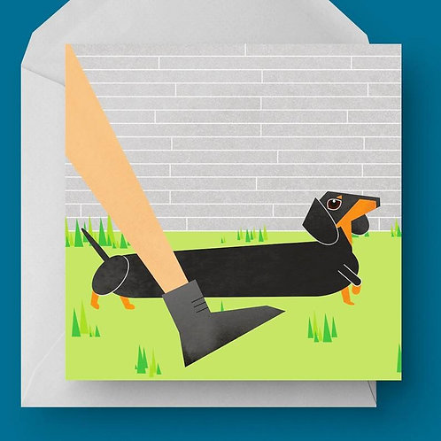 Dachshund Charity Greetings Card