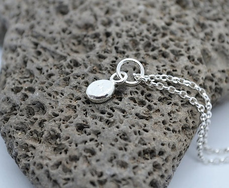 Silver Nugget Dot Necklace