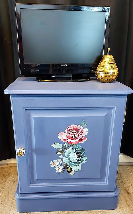 Blue Media Cabinet
