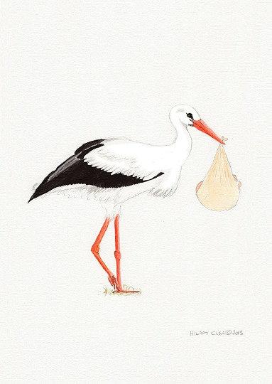 Stork New Baby Card